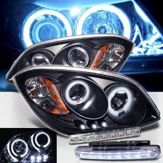 2007 2009 PONTIAC G5 DUAL CCFL HALO PROJECTOR HEADLIGHTS + LED FOG BUMPER LAMPS Automotive