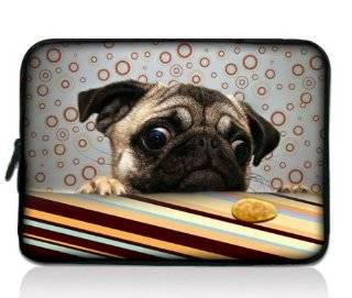 "Pug Dog Universal Zip Bag 7"" Tablet Case Cover Sleeve for 7"" Samsung Galaxy Tab 2 Tab 3 ,Ipad Mini,Barnes & Noble NOOK Color Tab/Google Nexus 7, Kindle Fire HD ,HP Slate 7,Pendo Pad ,7 inch Pioneer Dreambook,Acer Iconia A100,BlackBerry PlayBo"