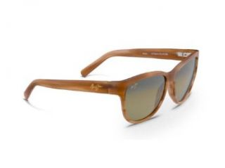 Maui Jim HS273 01M Chocolate Matte Ailana Cats Eyes Sunglasses Polarised Lens M Clothing