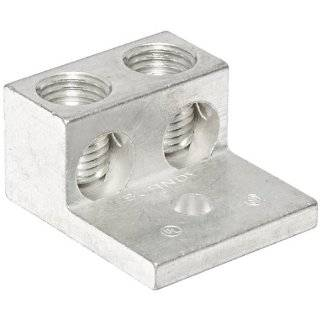 "Burndy K2A26U Universal Terminal, 2 Conductor lugs, 14 Str.   2/0 Str. Aluminum or Copper Wire Range, 1/4"" Stud Hole, 1.25"" Width, 1.47"" Length, 0.79"" Height, 0.19"" Thick, 120lb Recommended Tightening Torque Industrial & Scien"