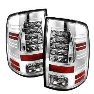 Dodge Ram 1500 09 10 LED Tail Lights + Hi Power White LED Backup Lights   Chrome (Pair) Automotive
