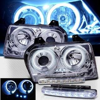 2006 CHRYSLER 300 DUAL CCFL HALO HEADLIGHTS PROJECTOR + 8 LED FOG BUMPER LAMPS Automotive