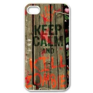 Custom Keep Calm And Kill Zombies Cover Case for iPhone 4 4s LS4 289 Cell Phones & Accessories