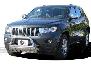 "2011 2013 Jeep Grand Cherokee 3"" Black Horse Off Road Stainless Steel Brush Guard Bull Bar w/Skid Plate Automotive"
