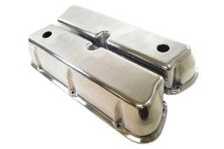 Racer Performance 1962 85 Ford Small Block 289 302 351W 5.0L Tall Polished Aluminum Valve Covers   Smooth Automotive