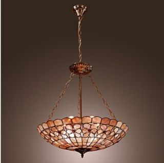 Tiffany Style Pendant Light with 3 Lights   Floral Patterned   Ceiling Pendant Fixtures