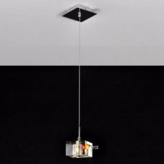 Stainless Steel 1 Light Mini Pendant Light with K9 Crystal ball Drop   Ceiling Pendant Fixtures