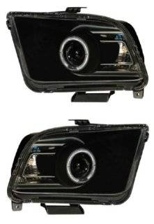 FORD MUSTANG 05 09 PROJECTOR HEADLIGHT G2 HALO BLACK CLEAR(CCFL)(2010 STYLE) NEW Automotive