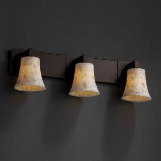 Justice Design Group ALR 8923 BLKN Black Nickel Alabaster Rocks 3 Light Bathroom Fixture from the Alabaster Rocks Collection