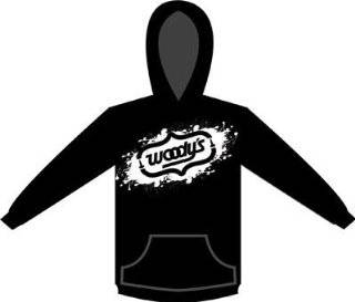 Woodys Cutout Hoody , Gender Mens/Unisex, Primary Color Black, Size Md 302 HSCUTOUT 2 Automotive