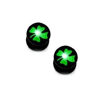 Four Leaf Clover Gauge Earring 10mm (00G) Fashion Plugs (1 Pair) Jewelry