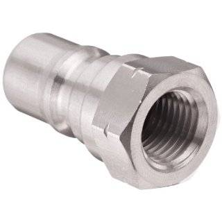 Dixon SS17 Series Stainless Steel 303 Industrial Hydraulic Quick Connect Fitting, Poppet Valve Plug, Coupling x NPTF