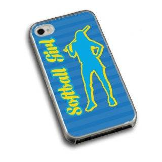 Softball Girl Silhouette iPhone Case (iPhone 4/4S) Cell Phones & Accessories