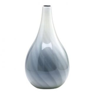 Cyan Lighting 02934 Large Petra Vase, White and Smoked Finish