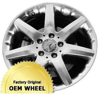 MERCEDES C230,C320,C CLASS 17x7.5 7 SPOKE Factory Oem Wheel Rim  HYPER SILVER   Remanufactured Automotive