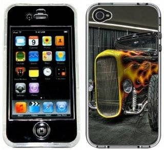Hot Rod Classic Car Handmade iPhone 4 4S Full Hard Plastic Case Cell Phones & Accessories