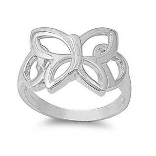 Eden Butterfly Ring Sterling Silver 925 Jewelry