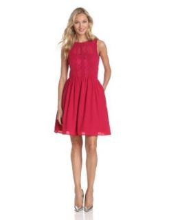 Jessica Simpson Women's Fit And Flare Dress, Persian Red, 10