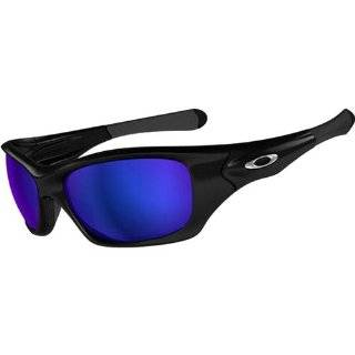 Oakley Pit Bull Men's Polarized Active Fishing Specific Designer Sunglasses   Polished Black/Shallow Blue / One Size Fits All Automotive