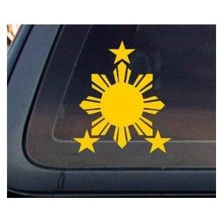 Philippine Flag Sun YELLOW Car Decal / Stickers Automotive