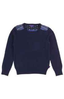 PAUL SMITH JUNIOR Shoulder Stitch Round Neck Sweater  6  NAVY