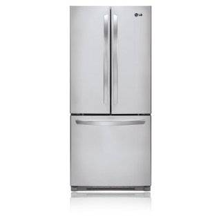"LG LFC20770ST Energy Star Rated 30"" 19.7 Cu. Ft. Freestanding French Door Refrigerator with Multi Air Flow Cooling System, Digital Temperature Controls, and 4 Temperature Sensors in Stainless Steel Appliances"