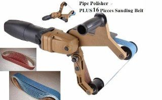 HPG 331 Pipe and Tube Polisher Sander Grinder for Polishing Stainless Steel FREE 16+1 belt fits hardin and metabo 18 months warranty