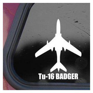 Tu 16 BADGER White Sticker Decal Military Soldier Die cut White Sticker Decal