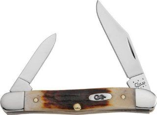 Case XX Knives 337 XX Vault Series   Half Whittler Pocket Knife with Genuine Red Stag Handles  Folding Camping Knives  Sports & Outdoors