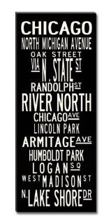 Subway Sign Wall Art Chicago Gallery Wrapped Canvas  24x60   Prints