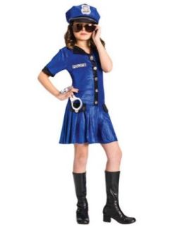 Kids Costume Police Girl Child 12 14 Halloween Costume   Child 12 14 Clothing