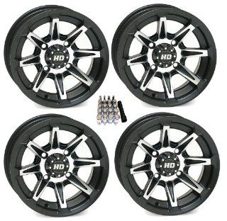 "STI HD2 ATV Wheels/Rims Black 14"" Polaris 2013 Ranger 900 XP (4) Automotive"