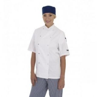 Dennys Ladies/Womens Short Sleeve Chefs Jacket / Chefswear Clothing