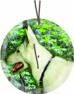 Irish Wolfhound Dog Round Glass Christmas Tree Ornament Suncatcher   Affordable Gift for your Loved One Item #CFS GO 353   Christmas Ball Ornaments