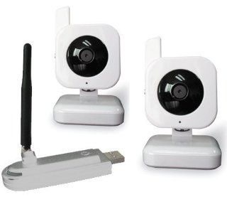 2.4GHz Digital Wireless Security Camera System Plugs Into your Computer or Laptop Includes 2 Complete Wireless Cameras (100% Wi Fi Interference Free) Camera & Photo