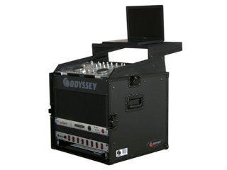 Odyssey FRGS808BL 10Sp x 8Sp Combo Rack W/Platfo Top Load Rack With Laptop Mount Musical Instruments