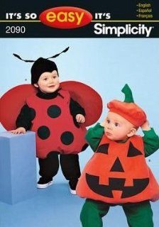 Simplicity Sewing Pattern 2090/E2090 Toddler Ladybug and Jack o' Lantern Pumpkin Costume Sewing Pattern