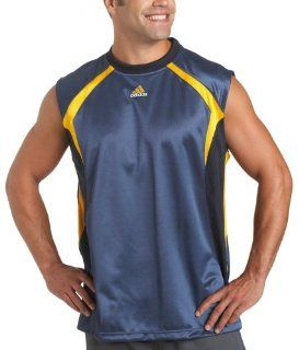 adidas Men's Artillery Clima 365 Sleeveless Shirt, Uniform Blue/Collegiate Gold, Medium Sports & Outdoors