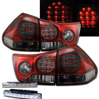 2004 2008 LEXUS RX330/350 REAR BRAKE TAIL LIGHTS LAMPS + DRL LED BUMPER RUNNING Automotive