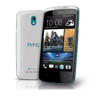 HTC Desire 500 Unlocked GSM Android Cell Phone   White/Blue Cell Phones & Accessories