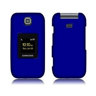 Samsung M370 Dark Blue Rubberized Cover Cell Phones & Accessories