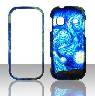 2D Blue Design Samsung Gravity TXT T379 T Mobile Case Cover Hard Phone Case Snap on Cover Rubberized Touch Protector Faceplates Cell Phones & Accessories