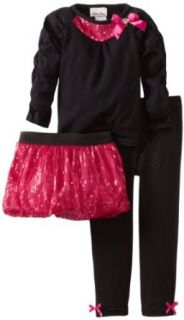 Little Lass Girls 2 6X 3 Piece Tutu Set With Bow Clothing