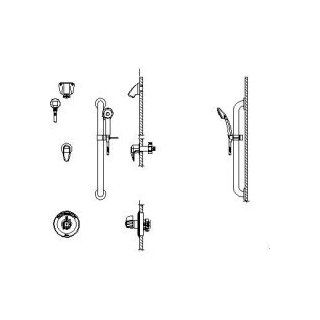 Delta T13H383 10 Commercial Double Handle Shower Valve Trim Only with 1.5 GPM Single Function Han, Chrome   Bathtub And Shower Diverter Valves
