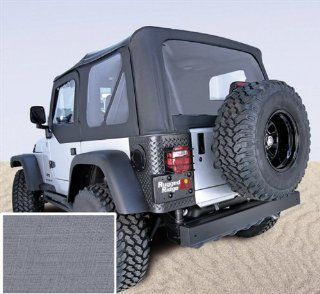 Rugged Ridge 13701.09 Soft Top With Clear Windows & Door Skins GRAY For 1987 95 Jeep Wrangler YJ Automotive