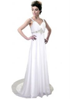 Faironly Xm22 White Ivory Straps Beach Wedding Dress Bridal Gown Clothing