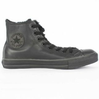 Converse Chuck Taylor Leather Hi Top Lined Shoes in Black/Black, Size 13 D(M) US Mens, Color Black/Black Shoes