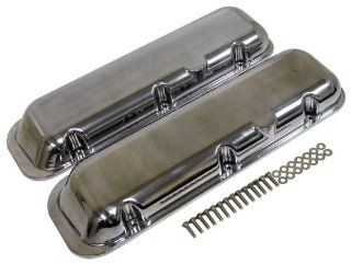 1965 95 CHEVY BIG BLOCK 396 427 454 502 SHORT POLISHED ALUMINUM VALVE COVERS   SMOOTH Automotive