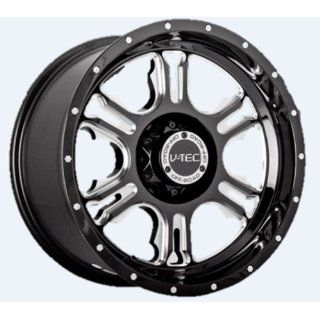 "V TEC Rage 397 Gloss Black Milled Spoke Rear Wheel with Chrome Bolts (18x9""/8x165.1mm) Automotive"