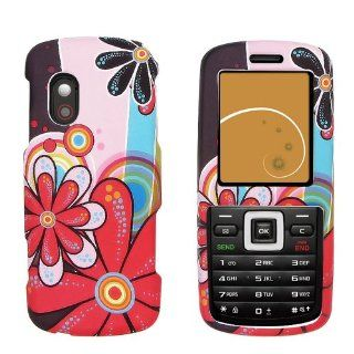 Samsung T401G Rubberized Hard Case Cover   Daisy Pop Cell Phones & Accessories